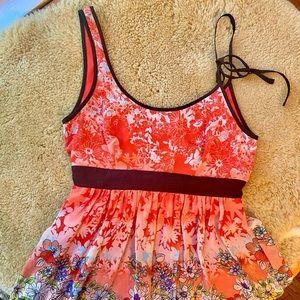 Floral Johnny Martin Mini Dress Sz S F1